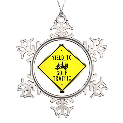 Ideas For Decorating Christmas Trees Golf Priority Picture Snowflake Ornament Fairway ()