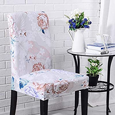 Amazon.com: RXIN 4/6 Chair Cover Seat Pieces Elastic Set Printed Chair Covers Dining Hotel Housse De Chaise Fundas para Sillas: Home & Kitchen