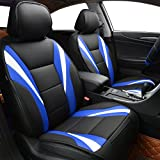 NEW ARRIVAL- CAR PASS Delux Sideless Universal Fit Car Seat Cover FOR 1 SET With carriage Bag (Black And Red) (Black and blue color)