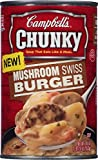 Campbell's Chunky Mushroom Swiss Burger Soup, 18.8 oz. Can