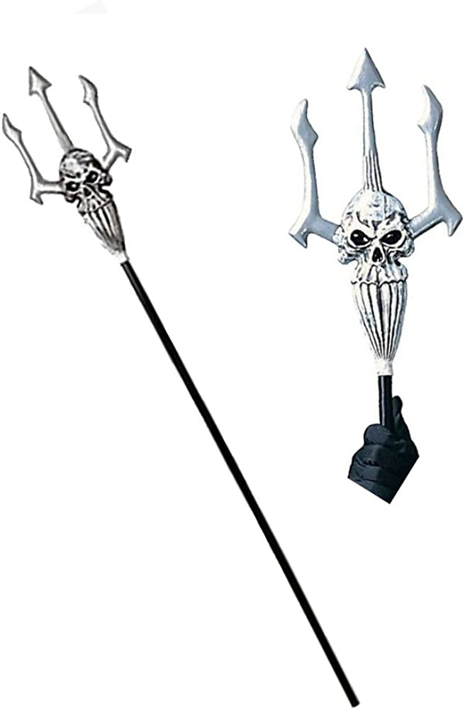 B00001T8RT Rubie's Costume Co Deluxe Halloween Skull Warrior Trident Costume Accessory 51h7x32YWxL