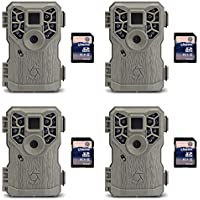 Stealth Cam 8MP 14 IR Emitter Hunting Game Camera, 4 Pack + 8GB SD Card, 4 Pack