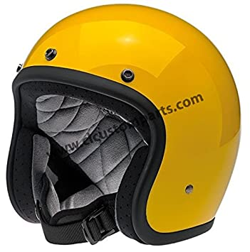Casco Jet Biltwell Bonanza Helmet Safe-T Yellow Amarillo Vintage Retro Años 70 Custom Chopper