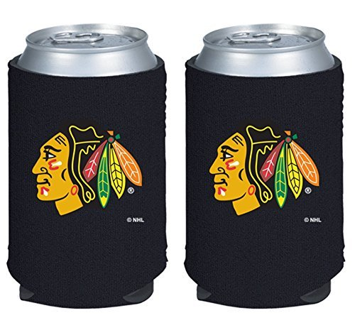 fan products of NHL Hockey 2014 Team Color Logo Can Kaddy Holder Can Cooler 2-Pack (Chicago Blackhawks)