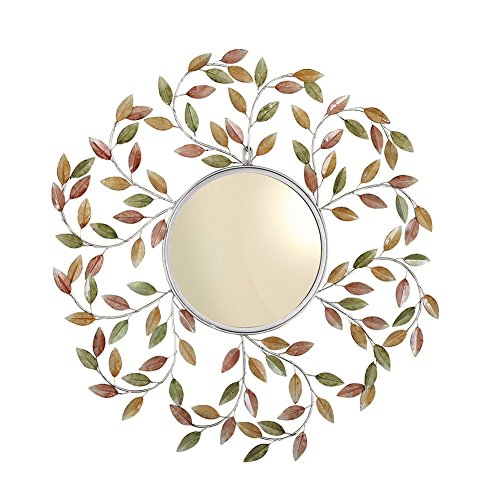Decorative Metal Leaves Wall - Mirror Colorful