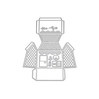 Healifty Plantilla de Metal para Álbum Tarjeta de Papel Arte Artesanal Scrapbooking DIY (Caja de