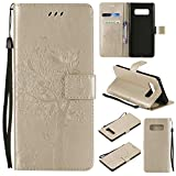 Galaxy Note 8 Wallet Case, UNEXTATI Leather Flip