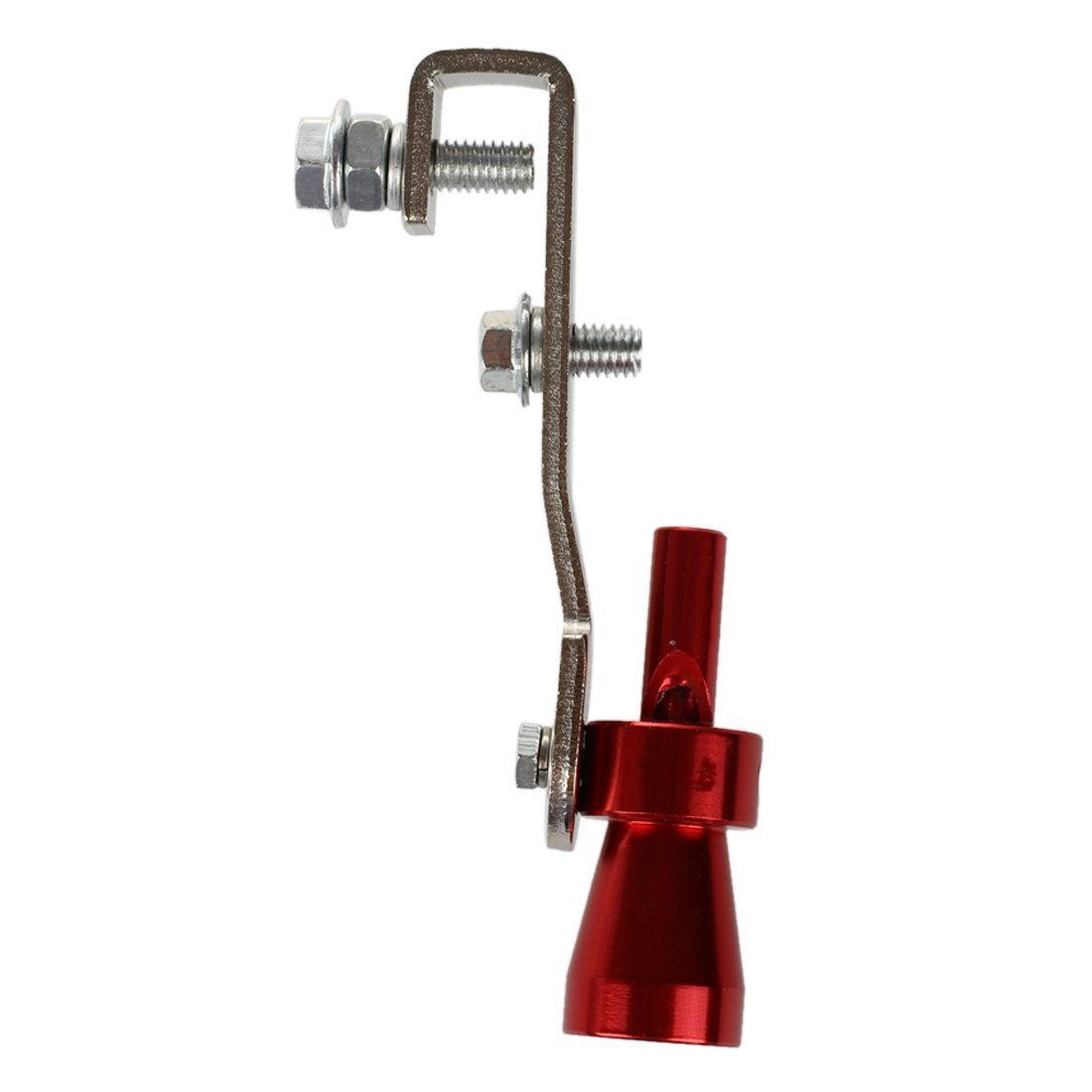 Sonido Turbo Silenciador - TOOGOO(R)10.2 X 2.5cm Turbo sonido del silenciador del extractor pipa del silbido valvula de escape BOV Simulador Silbido por 2000CC-2400cc (M, Rojo) SHOMAGT24330
