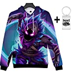 Yeawooh Unisex 3D Print Christmas Hoodie Sweatshirt for Men Women Teen Boys Girls (Send A Necklace) XXS