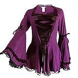 Search : CSDttT XS-XXL Gothic Romance - Royal Purple Gothic Corset Victorian Steampunk Top