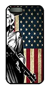 Marilyn Monroe American Flag HAC1014341 Custom PC Hard For Ipod Touch 4 Phone Case Cover Black