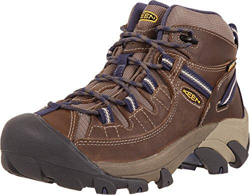 KEEN Women's Targhee II Mid WP-W Hiking Boot, Goat/Crown Blue, 8 M US by KEEN