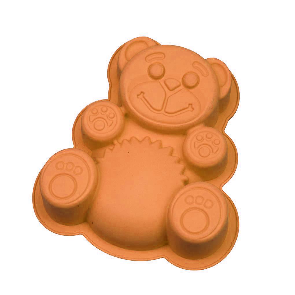 Rekkle La Forma del Oso Torta del Molde de Silicona 3D dLy Utensilios para Hornear de Dibujos Animados Fabricante de moldes Bandeja de Horno Tarta de Chocolate Moldes Pasta de az/úcar