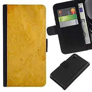 JackGot ( Sfondo giallo ) Sony Xperia Z3 D6603 la tarjeta de Crédito Slots PU Funda de cuero Monedero caso cubierta de piel
