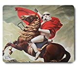 Palette Cool Soldier Riding a Horse Mouse Pad Funny Awesome Customized, Rectangle