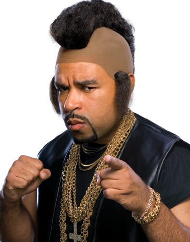 Rubie's Mr. Hammer Mohawk and Sideburns Wig, Black, One Size ()