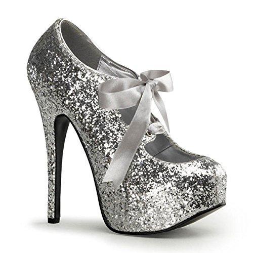 Heels-Perfect - Zapatos de vestir de material sintético para mujer Plata plateado Plata - plateado