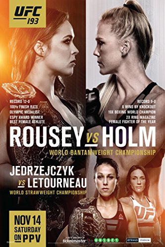 Ufc 193 Ronda Rousey vs Holly Holm Sports Poster