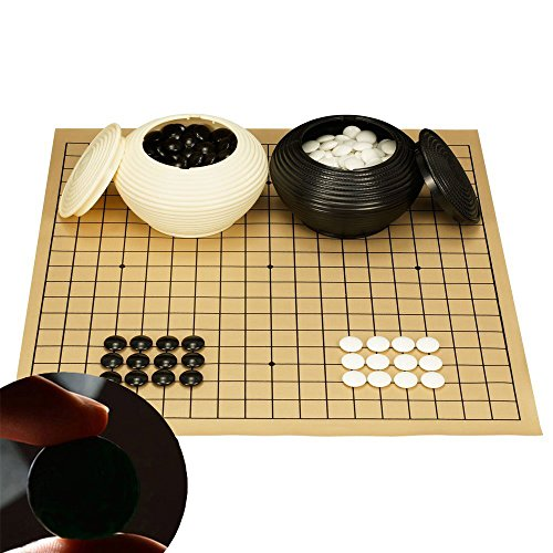 Go Game With Double Convex Plastic Stones and Plastic Bowls Go Game Set WXT0112 ~ USA SELLER ~We Pay Your Sales Tax by We pay your sales tax