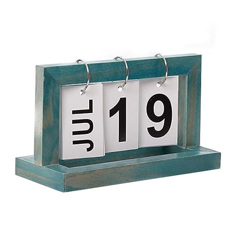 Amazon Com Perpetual Flip Calendar Office Desktop Calendar Desk
