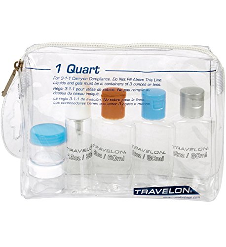 Comfy Leads TSA Travel Bottles Kit with Travel Bottle Bag, 7,5 x 6 x 2, 1 lbs