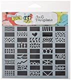 Crafters Workshop TCW604S Template, 6'' x 6'', Doodle Borders, White