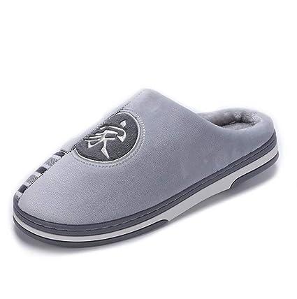 SHANGXIAN Hombres Interior Pantuflas Espuma De Memoria Forro De Felpa Antideslizante Casa Zapatos Invierno Mantener Caliente