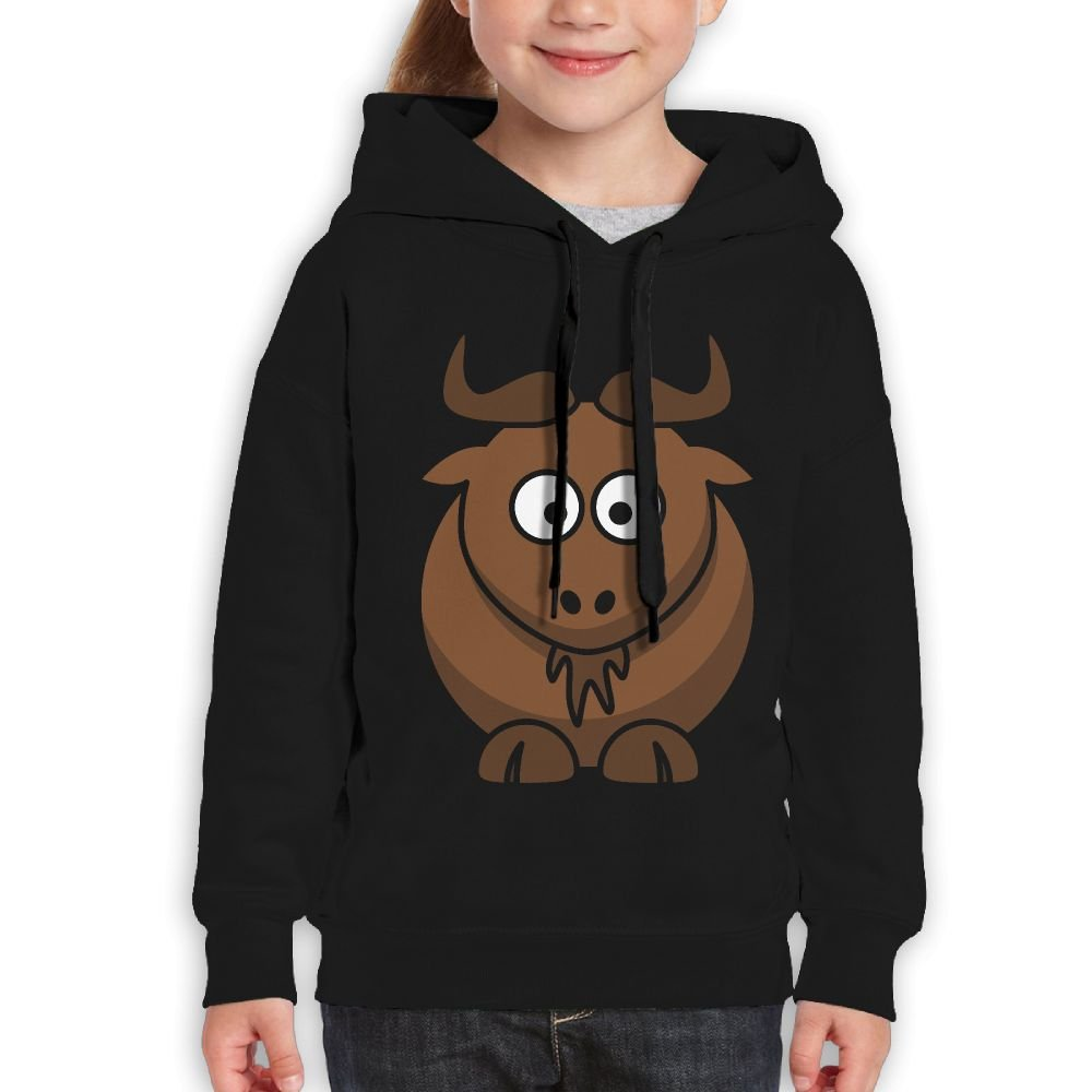 Fashion Girl's Sweatshirts,Warm Cartoon Cattle Cotton Long Sleeve Pullover For Girl