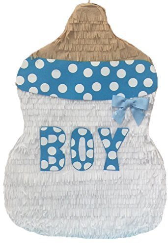 Handcrafted Boy Baby Bottle Pull Strings Pinata]()