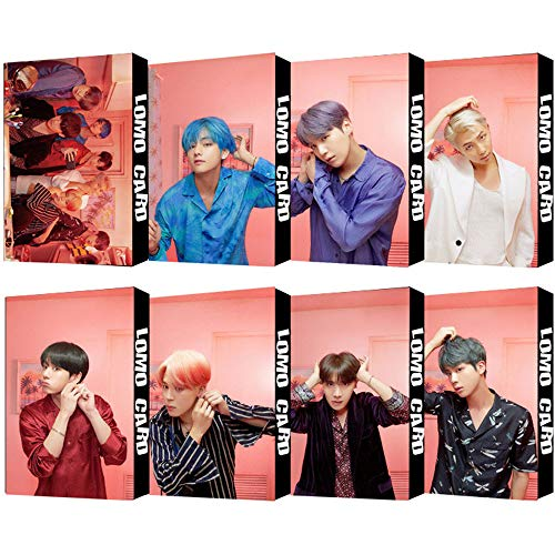 8 Pack/240 Pcs BTS Lomo Card KPOP Bangtan Boys Photocards MAP OF THE SOUL : PERSONA Greeting Card with Postcards Box