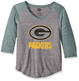OTS NFL Green Bay Packers Men's Triblend Raglan Tee, Distressed Iced, Medium