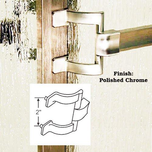 Towel Framed - Chrome Framed Sliding Shower Door Towel Bar and Brackets - 30