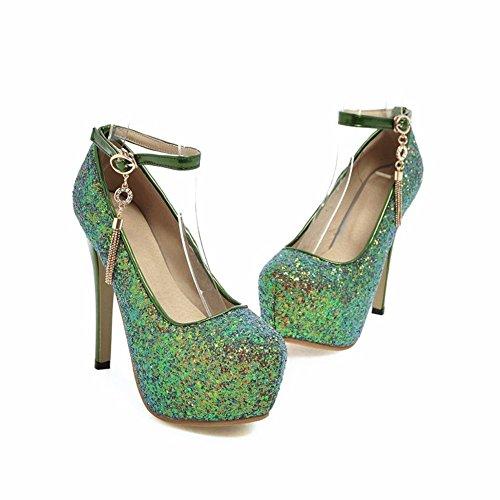 con Scarpe Impermeabile Green Donna Scarpe Eleganti Eu40 Scarpe Le Lustrini da Basse Piattaforma Banchetto Spesso zdwx5qOFz