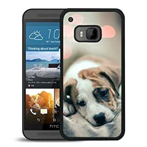 Sad Puppy Dog Black New Customized Design HTC ONE M9 Case