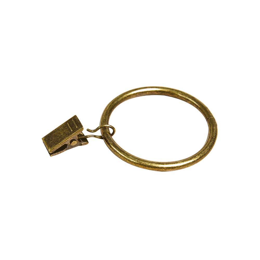 10 Pezzi Tenda con Anelli Romani Ciano urale, 2,5 cm, 3,2 cm Chiodi di Stoffa con Anello Clip in Metallo Pinza a Clip Anelli per Tende HSINCERELY