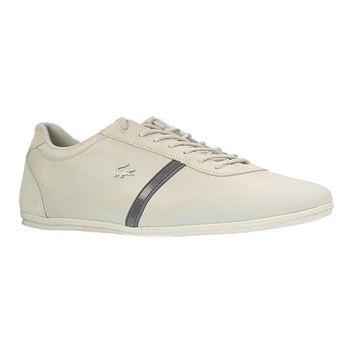 Lacoste 733cam1020098 - Zapatillas de Piel para Hombre, Color Beige, Talla 49 EU: Amazon.es: Zapatos y complementos