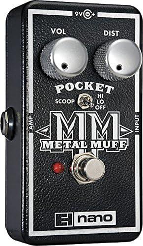 electro-harmonix Pocket Metal Muff color plateado Pedal de distorsi/ón para guitarra