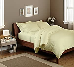 "Egyptian cotton Fitted Sheet With 17"" Deep Pocket 450 TC Solid (Cal-King, Beige) By Bedding Spa"