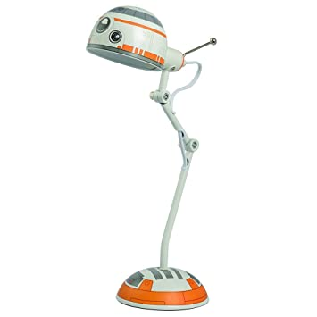 Disney 12216 Star Wars Desk Lamp, White/Orange, 17u0026quot;