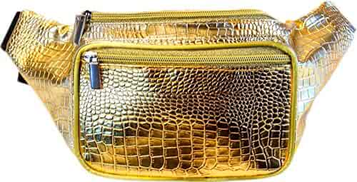 SoJourner Bags Gold and Silver Fanny Pack