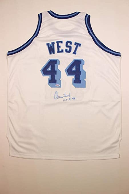 hot sale online 97744 b0464 Jerry West Signed Los Angeles Lakers Jersey with HOF 79 ...
