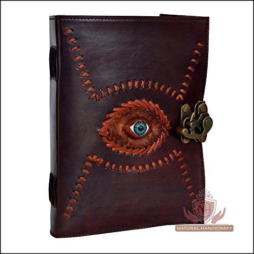 Gods Eye Embossed Leather Journal Book Brown Handmade Personal Organizer Daily Planner Notebook Office Diary College Book Sketch Book Office Supplies 5 x 7 Inches