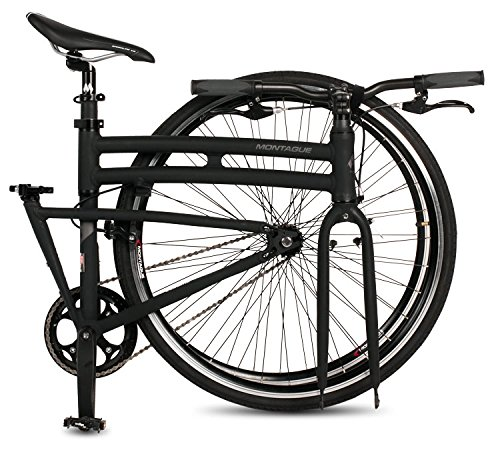 New Montague Boston Folding 700c Pavement Hybrid Bike Matte Black 19""