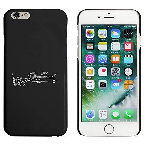 Schwarz 'Skifahren Mann' Hülle für iPhone 6 u. 6s (MC00031953)