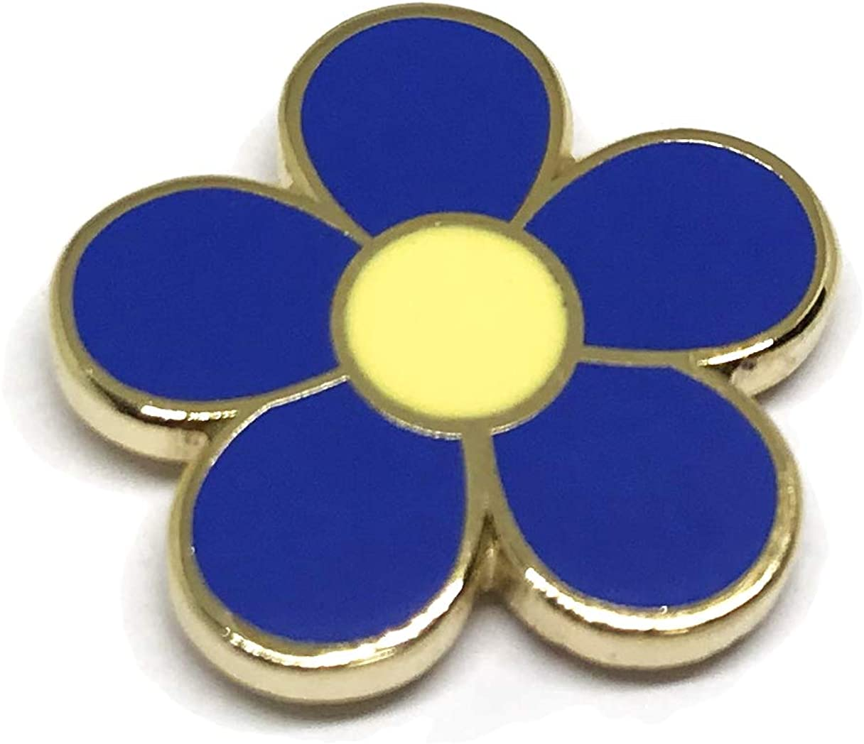 Forget Me Not Lapel Pin - Masonic Pride Brooch - Blue Flower Freemasonic