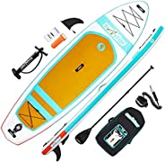 """surfstar Inflatable Paddle Board, Stand Up Paddle Boards for Adults, 10'6''x33''x6"""" Paddleboard Lightweight SU"""
