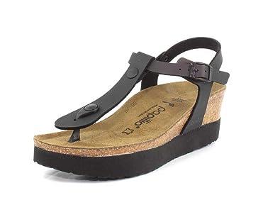 Papillio Women's Ashley Sandal Iridescent Black Birko Flor Size 37 ...