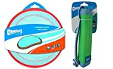 ChuckIt! Water Exercise Toy Bundle for Dogs with ChuckIt! Medium Amphibious Bumper Floating Fetch Toy and ChuckIt! Large Paraflight Toy