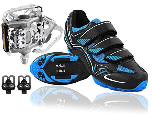 Bicycle Cycling Shimano SPD Shoes + Multi-Use Pedals 45 ()
