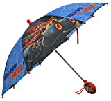 Nickelodeon Little Boys Blaze Character Rainwear Umbrella, Black/Blue, Age 3-7